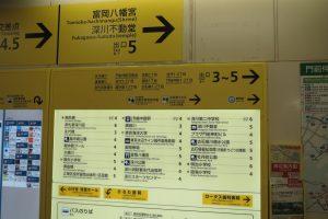 門前仲町駅(案内表示)