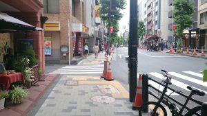 松屋・赤坂6丁目店 手前