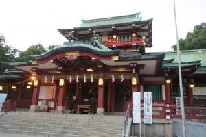 富岡八幡宮 拝殿(右正面)