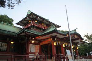 富岡八幡宮 拝殿(左正面)