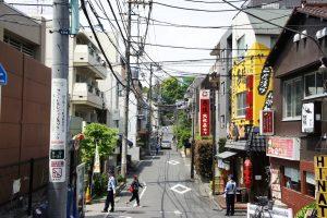 白山神社 東の通り