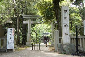 赤坂氷川神社 社号標・一の鳥居
