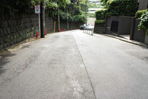 赤坂氷川神社 南側の道