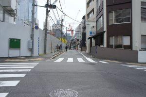 赤坂氷川神社 南側の道3
