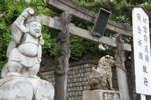 品川神社 大黒様・狛犬・双龍鳥居