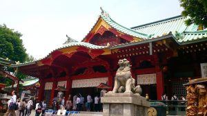 神田明神 狛犬・社殿