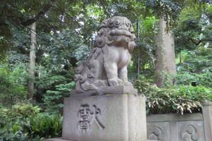 東参道石段前 狛犬(吽)