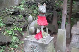 境内 西行稲荷神社 狛狐(吽)