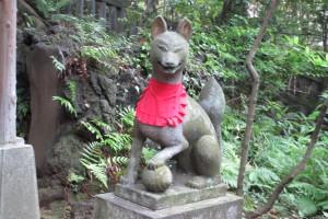 境内 西行稲荷神社 狛狐(阿)