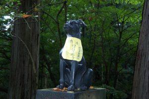 狛犬 青銅鳥居(左)